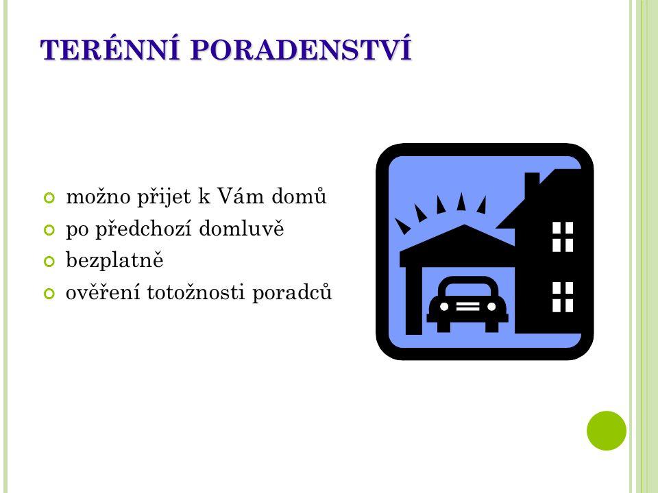 KONTAKTY Občanská poradna Třebíč Přerovského 126/6, Třebíč vchod po schodišti z ulice Přerovského nebo výtahem z Martinského nám.