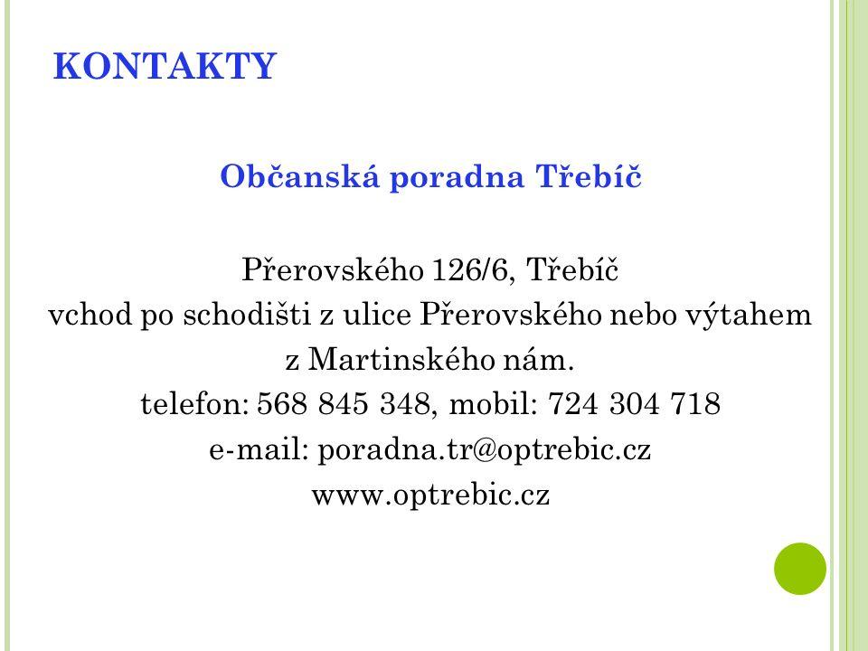 UŽITEČNÉ ODKAZY Vaše stížnosti – dTest www.vasestiznosti.cz dTest www.dtest.cz