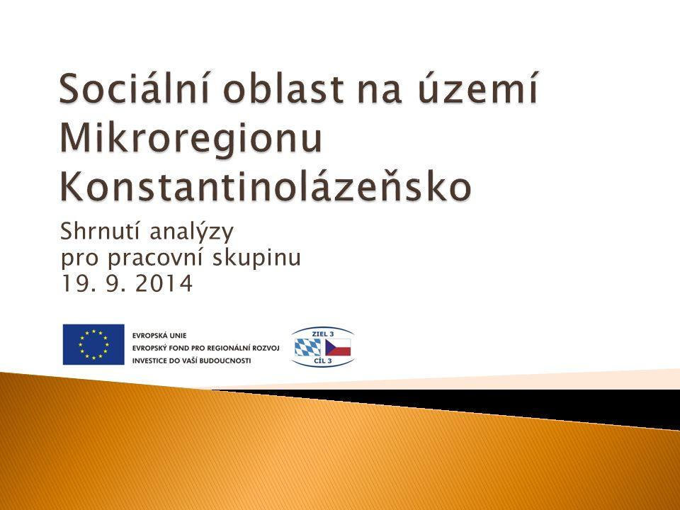 Shrnutí analýzy pro pracovní skupinu 19. 9. 2014