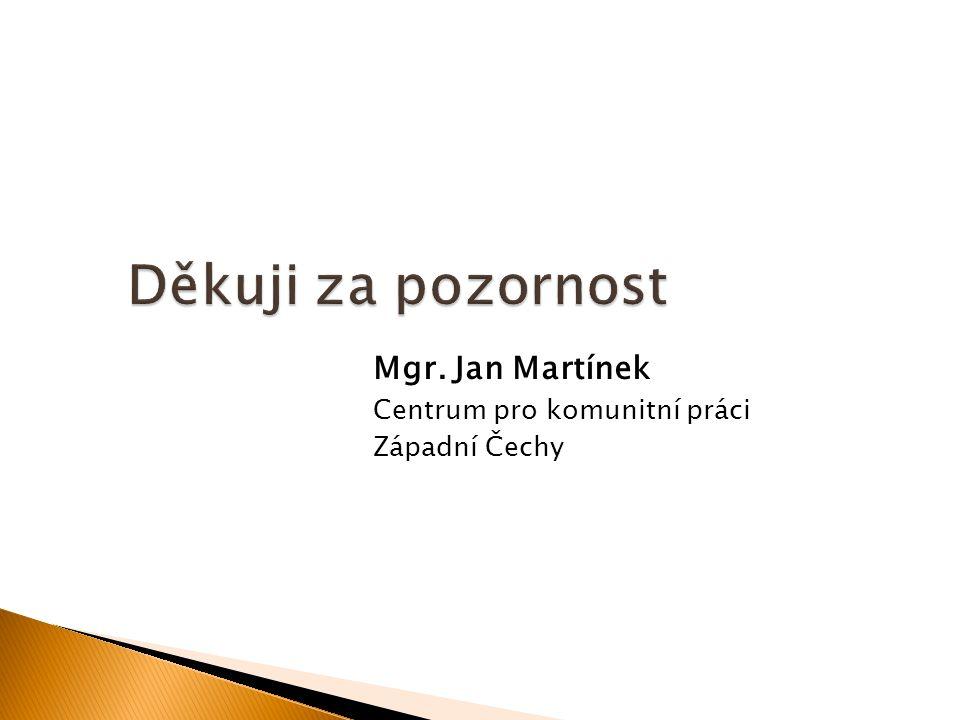 Mgr. Jan Martínek Centrum pro komunitní práci Západní Čechy