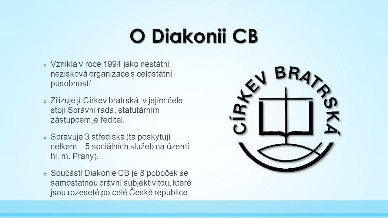 O Diakonii CB » Vznikla v roce 1994 jako nestátní nezisková organizace s celostátní působností.