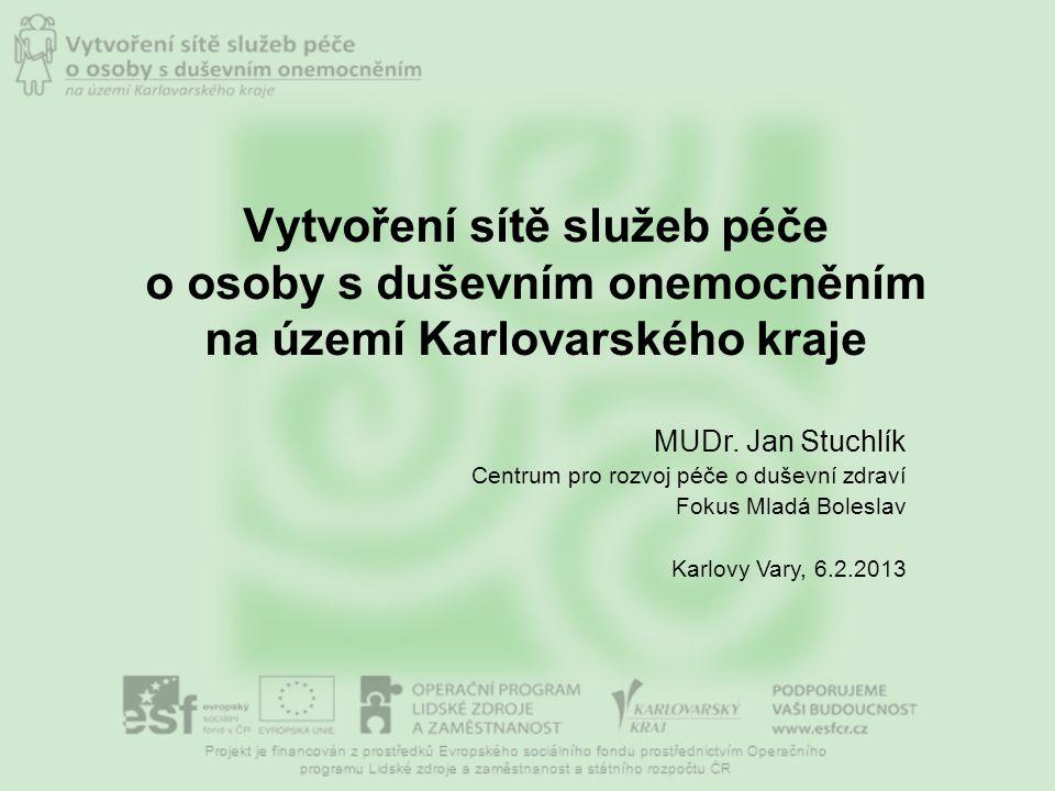 Vytvoření sítě služeb péče o osoby s duševním onemocněním na území Karlovarského kraje MUDr.