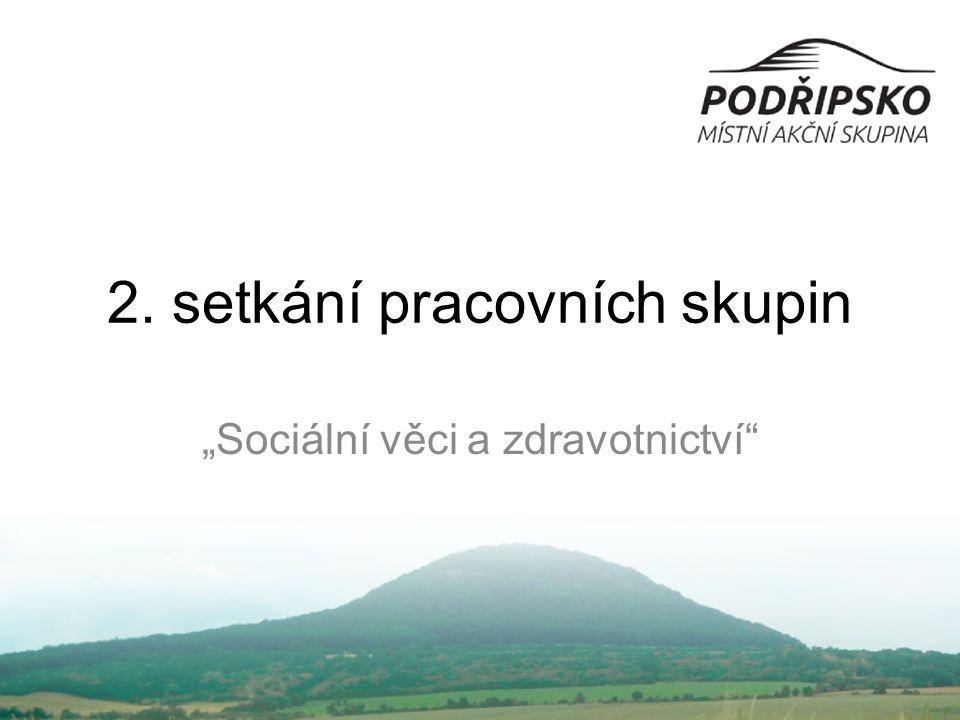"""2. setkání pracovních skupin """"Sociální věci a zdravotnictví"""