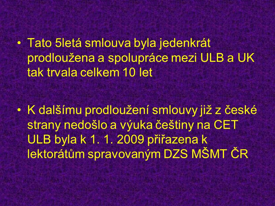 Jaké je poslání CET ULB?