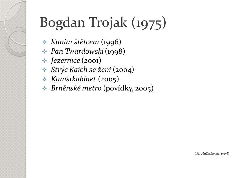 Bogdan Trojak (1975) Přečtěte si báseň Oni ze sbírky Strýc Kaich se žení (1994).
