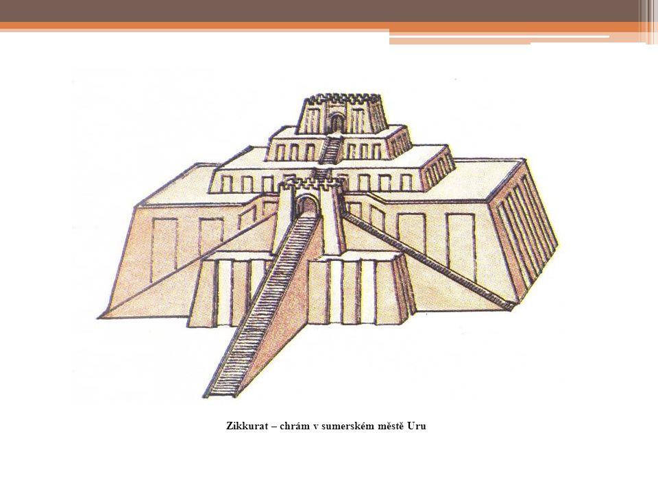 Zikkurat – chrám v sumerském městě Uru