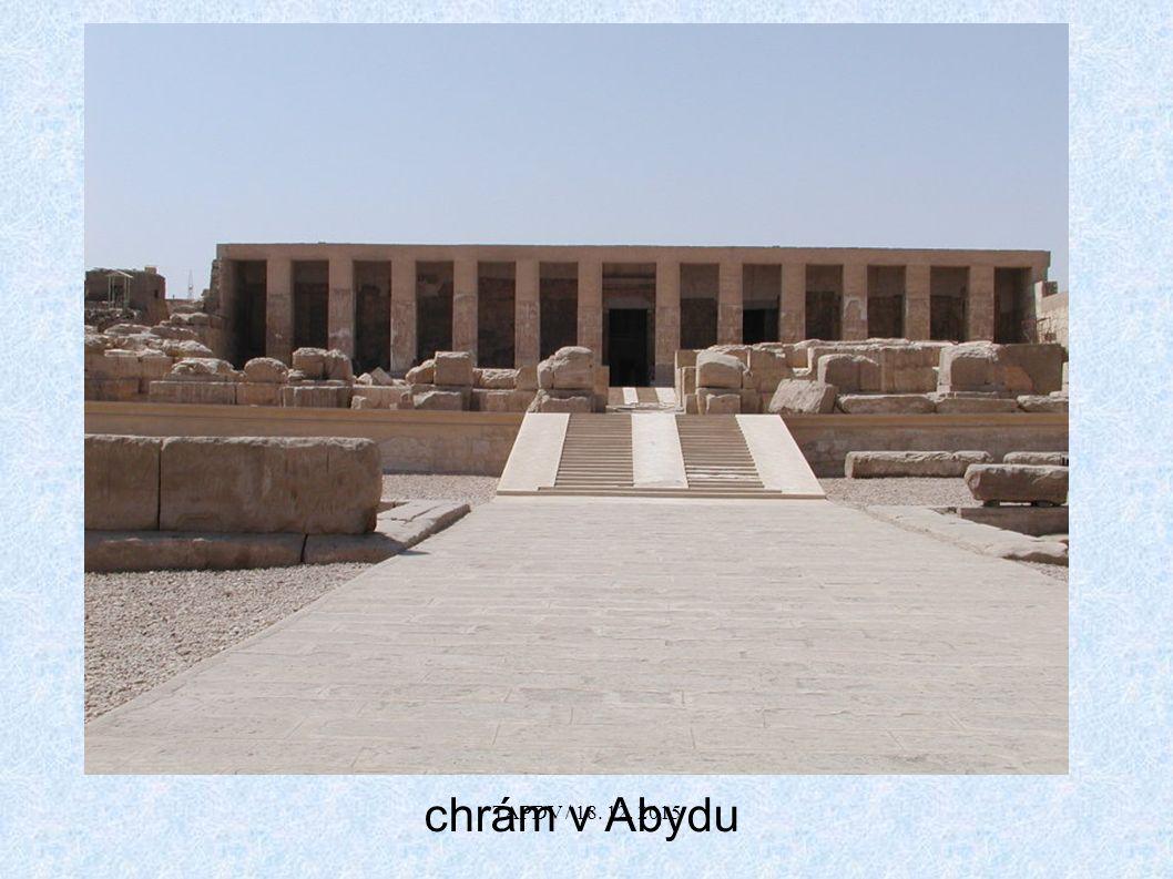 chrám v Abydu TAPDV / 18. 12. 2015