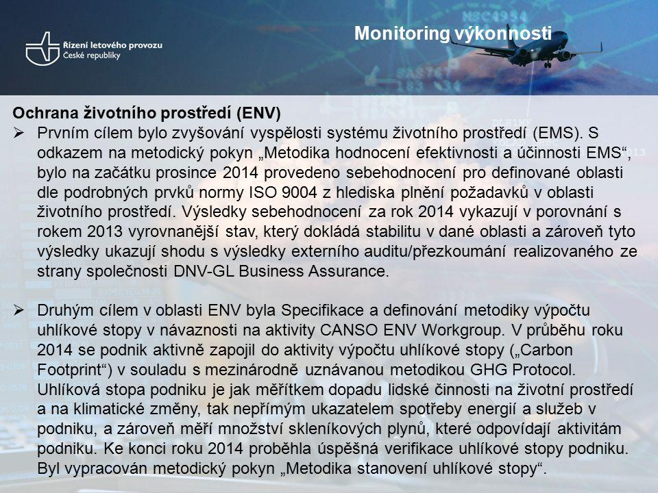 Ochrana životního prostředí (ENV)  Prvním cílem bylo zvyšování vyspělosti systému životního prostředí (EMS).
