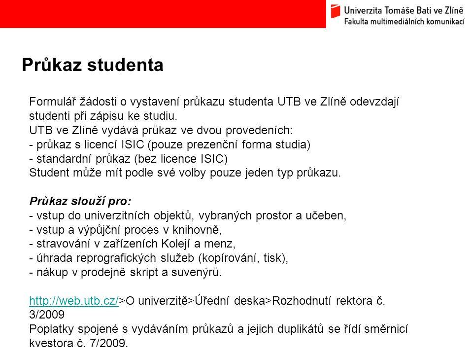 Průkaz studenta Bc.