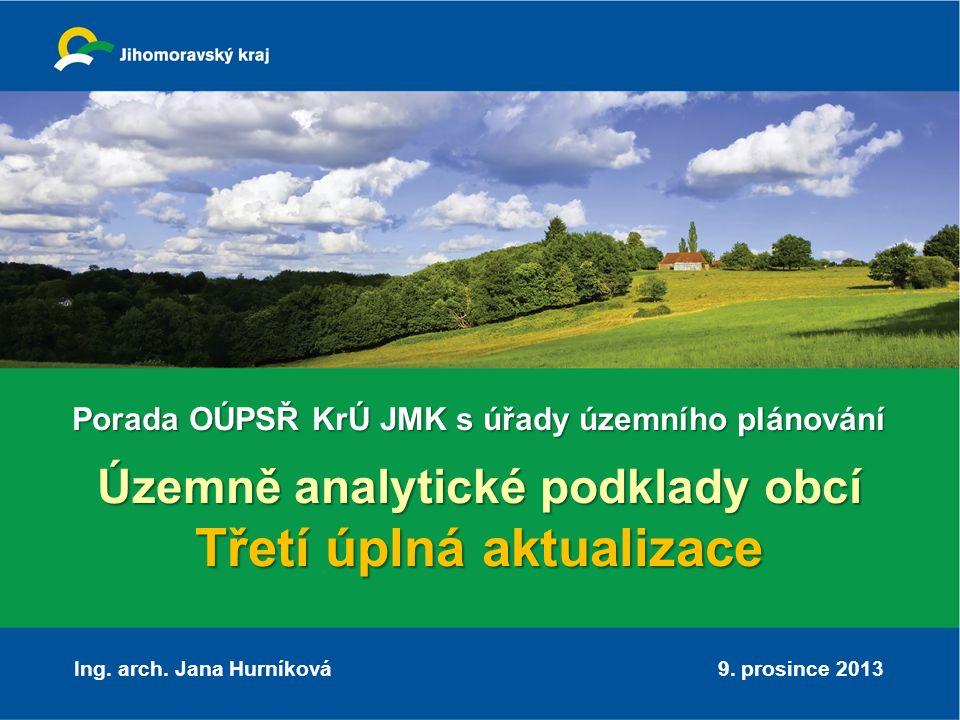 Územně analytické podklady Nereprezentativní vzorek – 10 odpovědí, zejména sídla ÚÚP Potřebnost: 80% hodnotí ÚAP jako potřebné, nicméně málo je používají Poskytnutí: všichni obdrželi: o CD o tisk, o 2x mapový portál Účel využití: pro rozhodování v území, pro vydání územně plánovací informace Způsob využití - jako doplňující informace, zejména o poloze sítí, zejména v obcích, které nemají územní plán ODPOVĚDI STAVEBNÍCH ÚŘADŮ