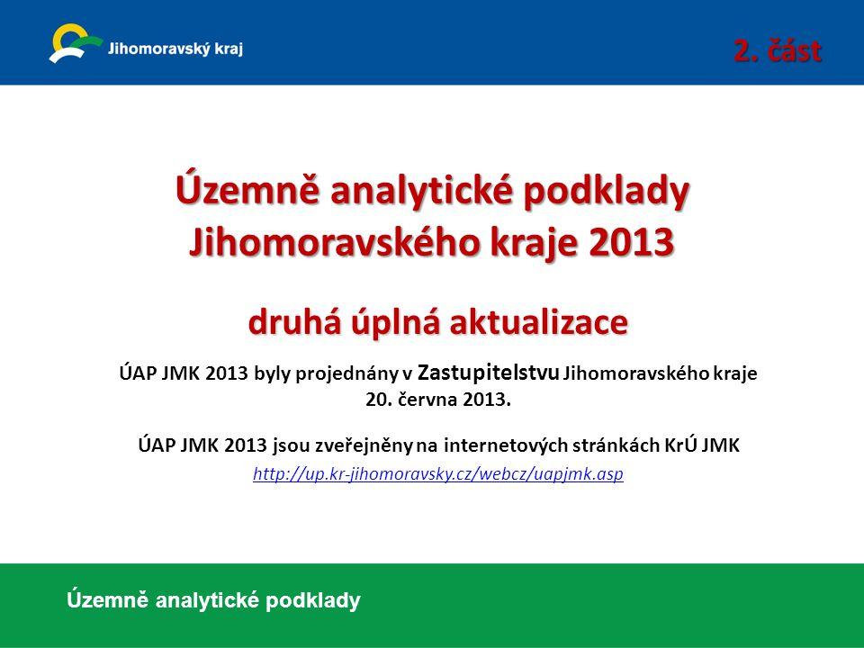 Územně analytické podklady Jihomoravského kraje 2013 druhá úplná aktualizace ÚAP JMK 2013 byly projednány v Zastupitelstvu Jihomoravského kraje 20. če
