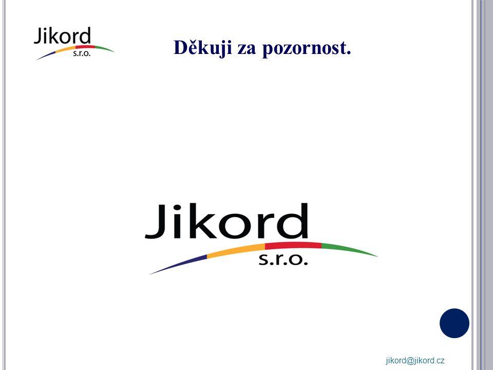 Děkuji za pozornost. jikord@jikord.cz