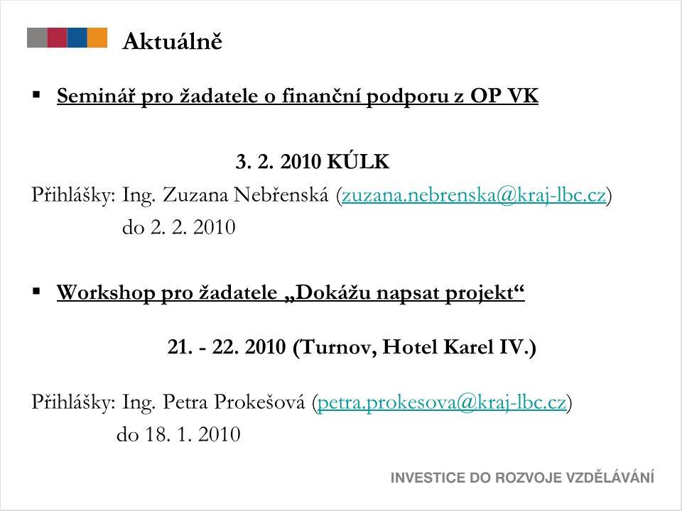 Aktuálně  Seminář pro žadatele o finanční podporu z OP VK 3.