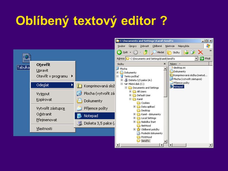 Oblíbený textový editor
