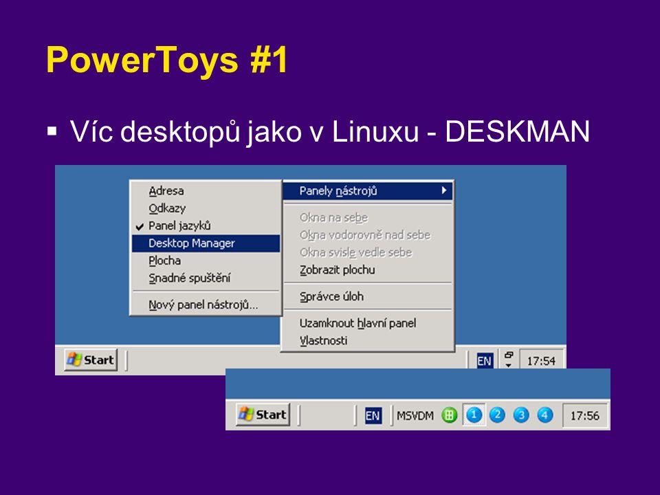 PowerToys #1  Víc desktopů jako v Linuxu - DESKMAN