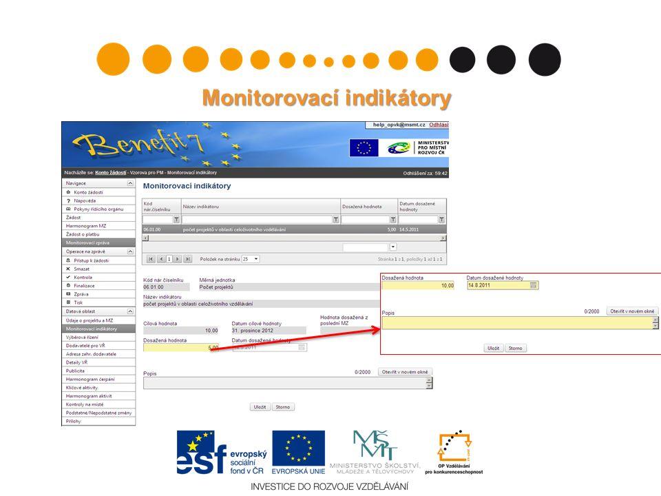 Monitorovací indikátory