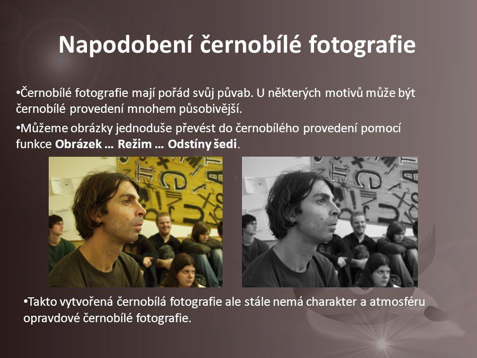 Černobílé fotografie mají pořád svůj půvab.