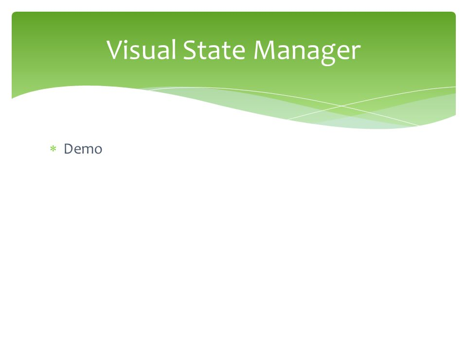  Demo Visual State Manager