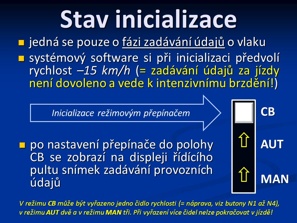 Popis údajů AVV 14 : 35 : 32 ÚVALY 14 : 37 0303060609090120150180 VP VS km/h VY 40 RYCHL.