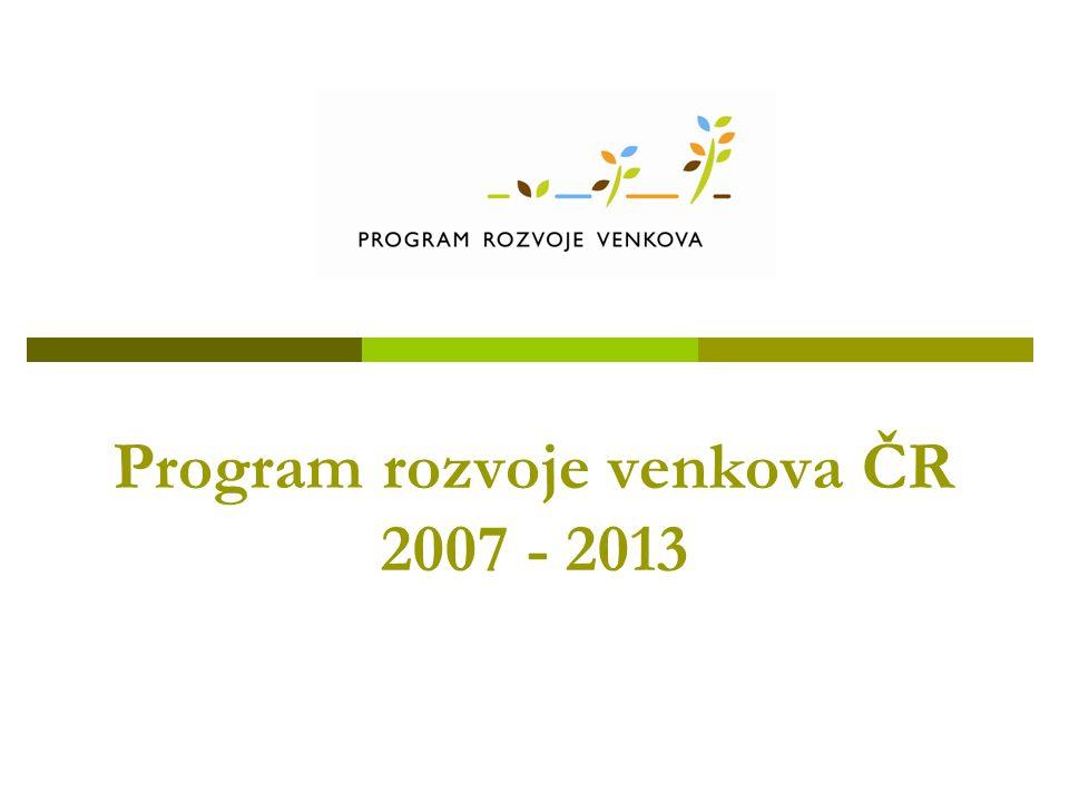 Program rozvoje venkova ČR 2007 - 2013