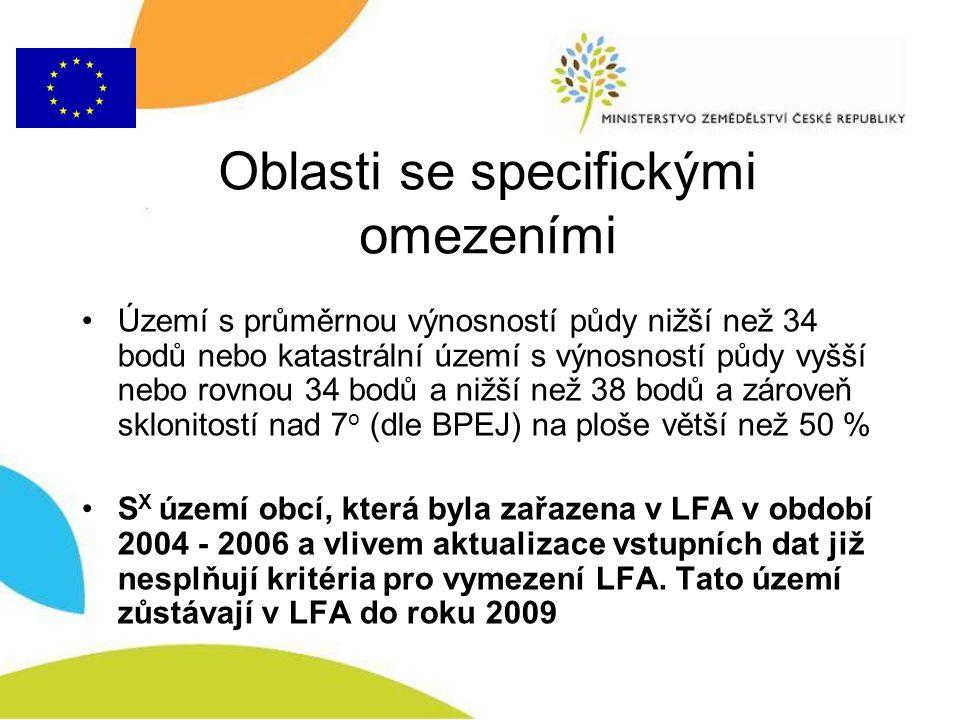 Členění LFA a sazba (§ 2 a § 5) –H A 157 EUR na 1 ha travních porostů, –H B 134 EUR na 1 ha travních porostů, –O A 117 EUR na 1 ha travních porostů, –O B 94 EUR na 1 ha travních porostů, –S 114 EUR na 1 ha travních porostů, –S X 91 EUR na 1 ha travních porostů,