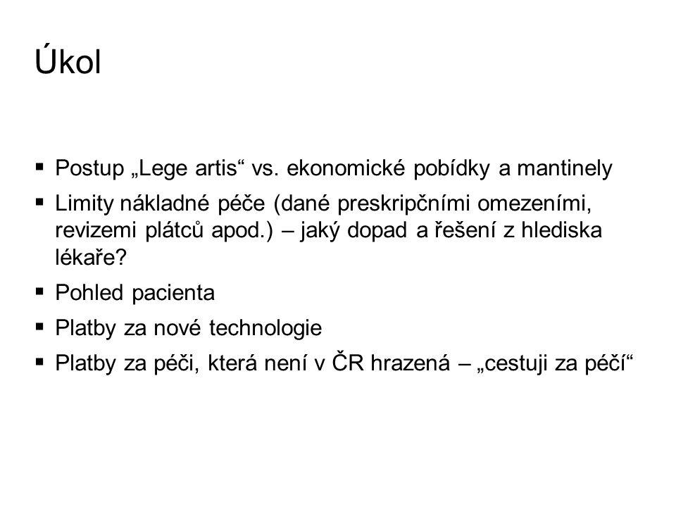"Úkol  Postup ""Lege artis vs."