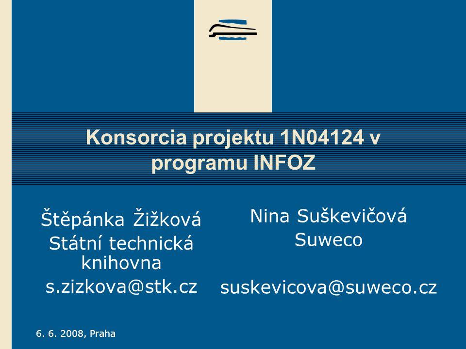 S TÁTNÍ TECHNICKÁ KNIHOVNA Úvodem Projekt 1N04124 = konsorcia:  Elsevier Science - jednání o částečné úhradě přístupu do Scopusu duben - září 2006, z ušetřené dotace projektu 1N04124 až ½ ceny,  Springer Verlag - od roku 2006 nakupována i Computer Science Library obsahující LNCS,  Kluwer Academic Publishers - na začátku roku 2005 sloučeno se Springerem, KluwerOnline zrušen, tituly + statistiky přístupné přes SpringerLink,  John Wiley & Sons – na podzim 2006 sloučení s nakladatelstvím Blackwell Publishing.Od 30.7.2008 Blackwell Synergy bude nahrazen Interscience Všechny meziroční zprávy o řešení projektu + roční celokonsorciální statistiky po celou dobu řešení projektu přístupné na: www.portalstm.cz/Koord, www.suweco.czwww.portalstm.cz/Koord