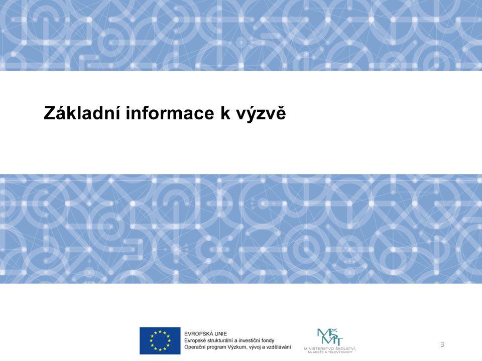 Dokumentace k výzvě Výzva Příloha č.1 – Indikátory Příloha č.