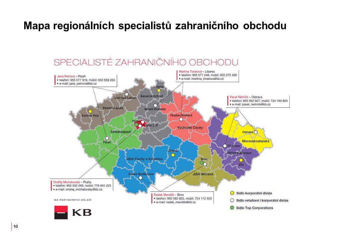 Mapa regionálních specialistů zahraničního obchodu 10