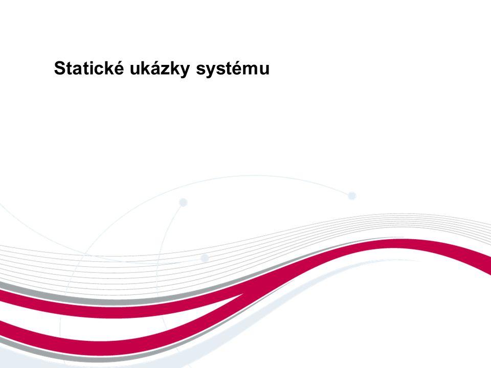 Statické ukázky systému