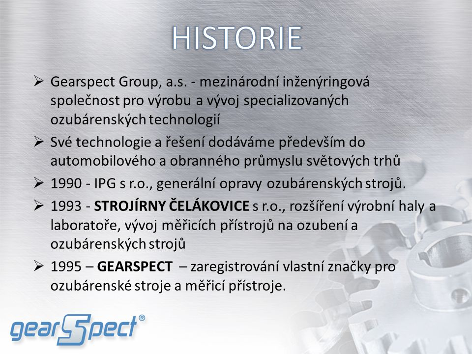  Gearspect Group, a.s.