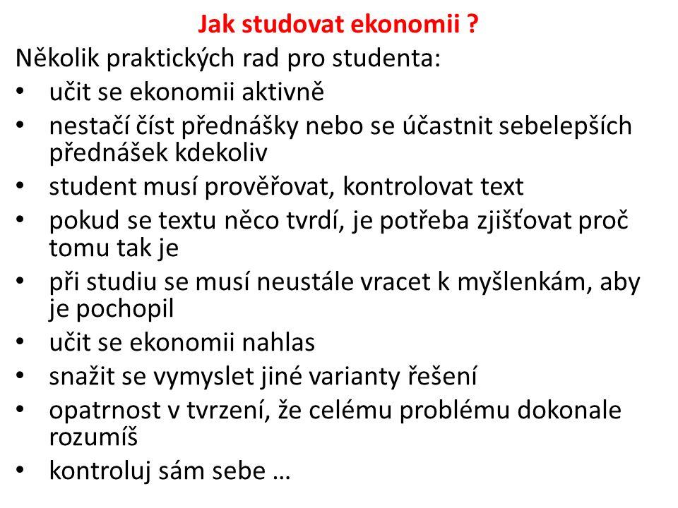 Jak studovat ekonomii .