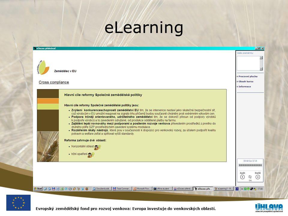Evropský zemědělský fond pro rozvoj venkova: Evropa investuje do venkovských oblastí. eLearning