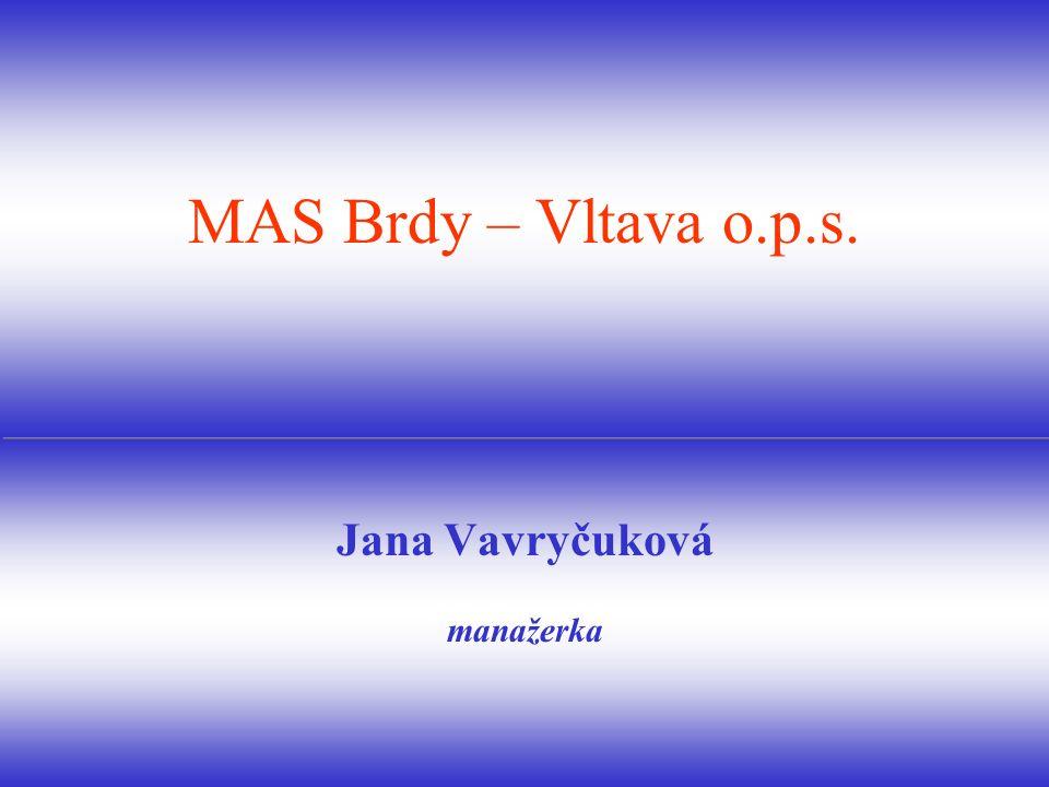 Jana Vavryčuková manažerka MAS Brdy – Vltava o.p.s.