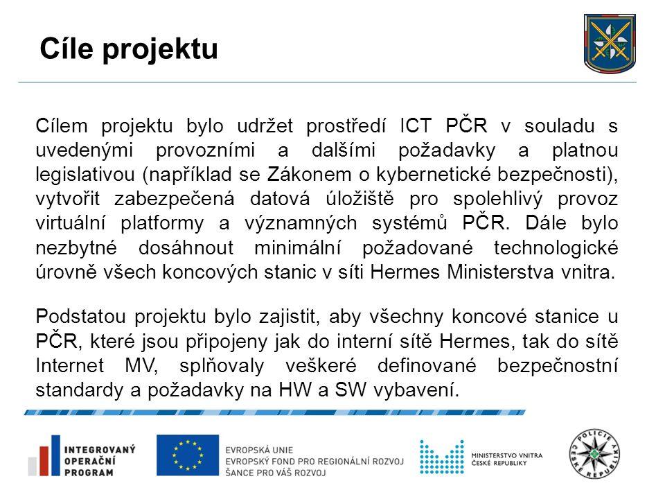 Cíle projektu 27.9.2016 5 Cílem projektu bylo udržet prostředí ICT PČR v souladu s uvedenými provozními a dalšími požadavky a platnou legislativou (na