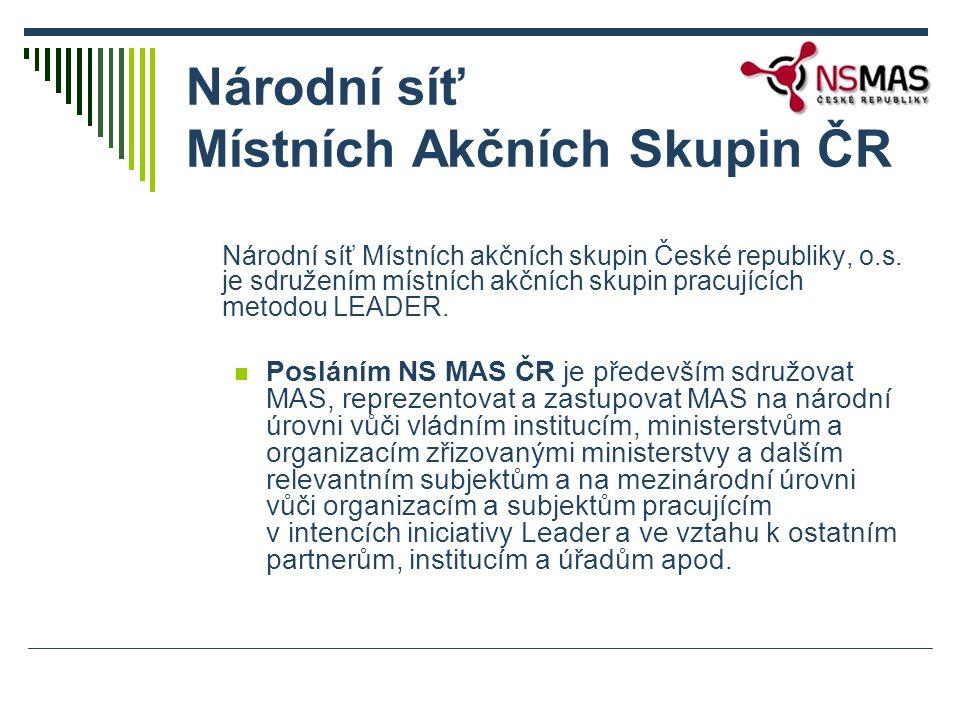 Národní síť Místních akčních skupin České republiky, o.s. je sdružením místních akčních skupin pracujících metodou LEADER. Posláním NS MAS ČR je přede