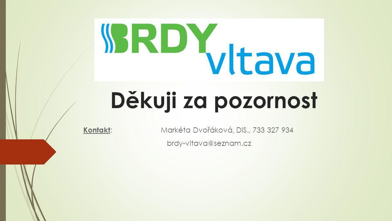 Děkuji za pozornost Kontakt : Markéta Dvořáková, DiS., 733 327 934 brdy-vltava@seznam.cz