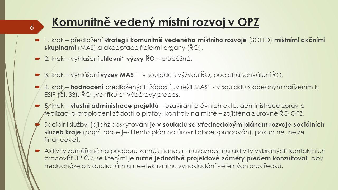 Komunitně vedený místní rozvoj v OPZ  1.