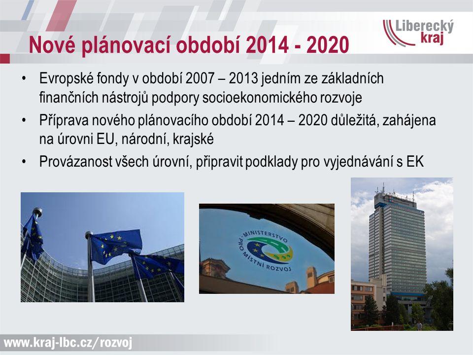 Nové plánovací období 2014 - 2020 Evropské fondy v období 2007 – 2013 jedním ze základních finančních nástrojů podpory socioekonomického rozvoje Přípr