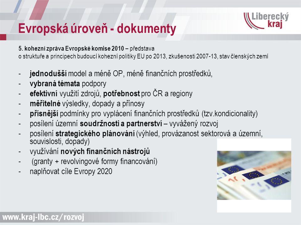 Evropská úroveň - dokumenty Strategie Evropa 2020 (schválena EK r.