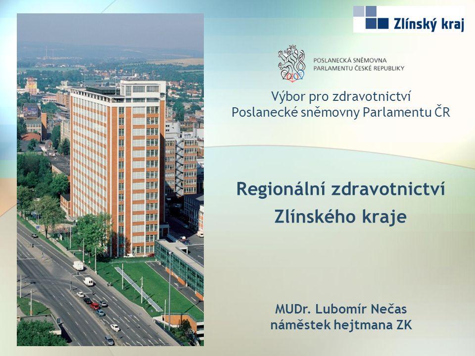 Výbor pro zdravotnictví Poslanecké sněmovny Parlamentu ČR Regionální zdravotnictví Zlínského kraje MUDr.