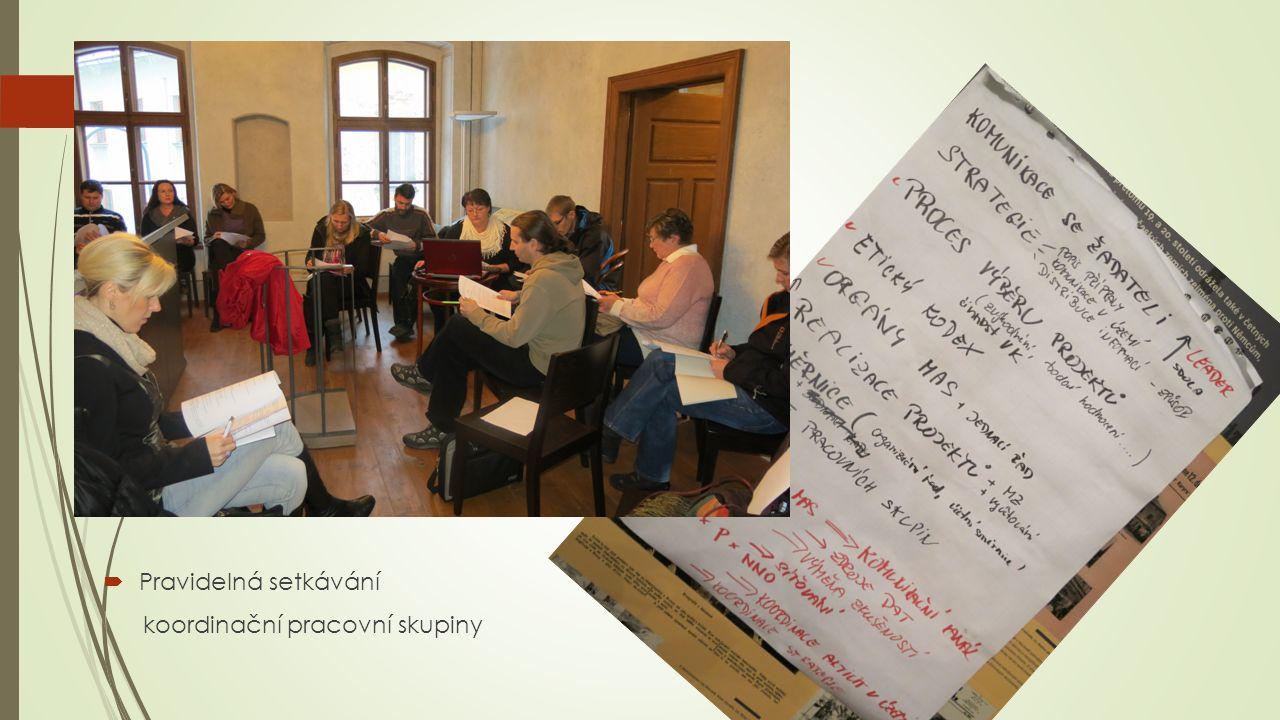  Pravidelná setkávání koordinační pracovní skupiny