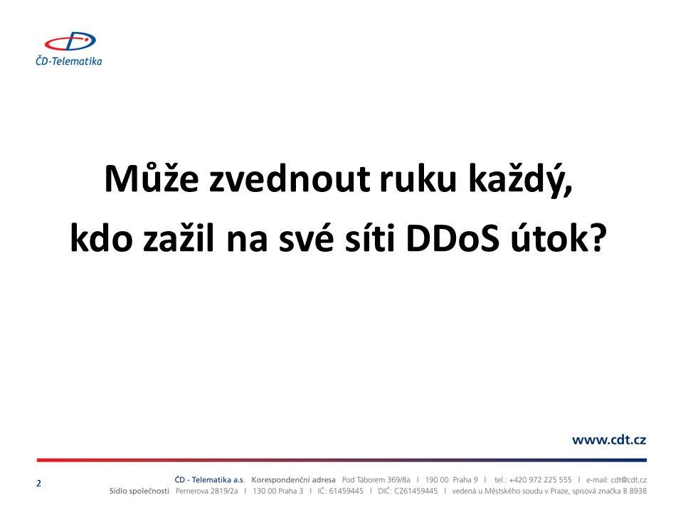Může zvednout ruku každý, kdo zažil na své síti DDoS útok 2