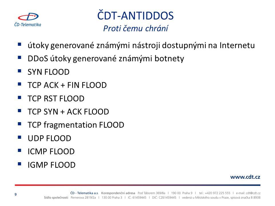 ČDT-ANTIDDOS provozní schéma 10