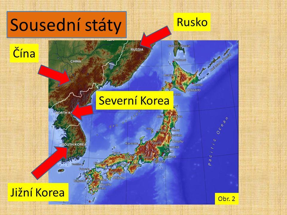Sousední státy Jižní Korea Severní Korea Čína Rusko Obr. 2