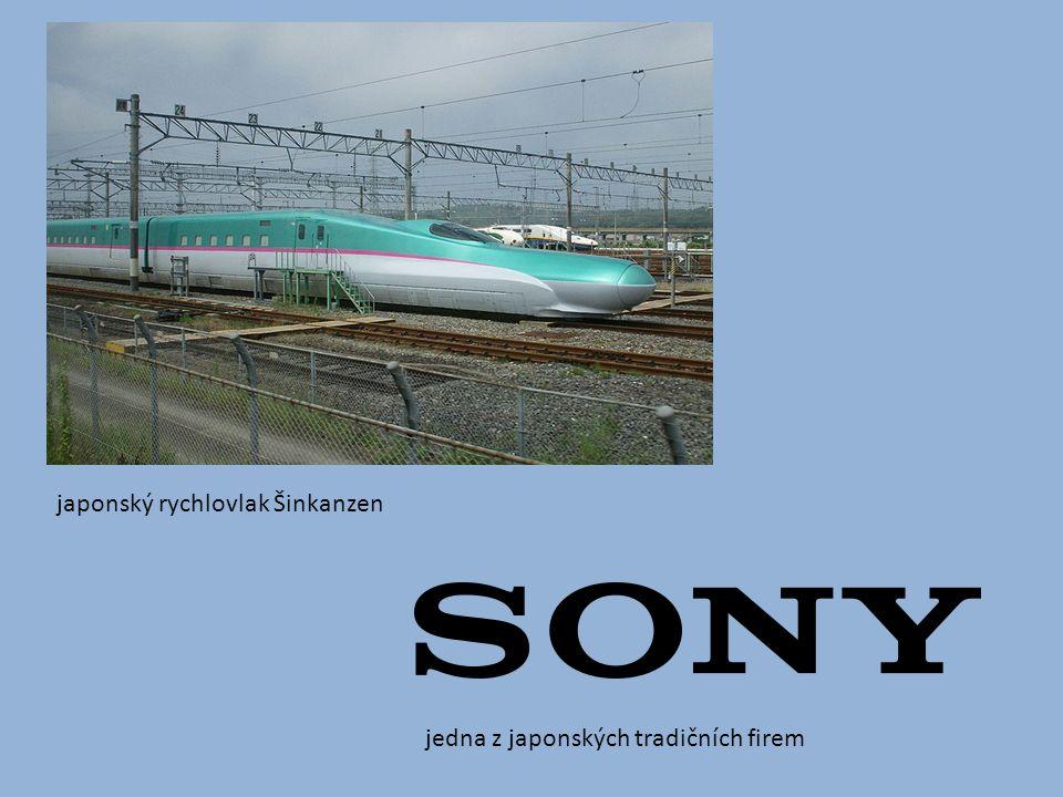 japonský rychlovlak Šinkanzen jedna z japonských tradičních firem