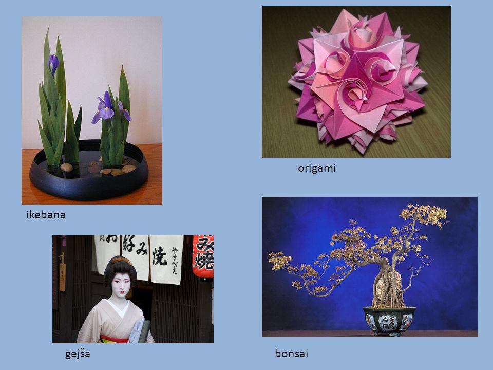 ikebana origami gejšabonsai