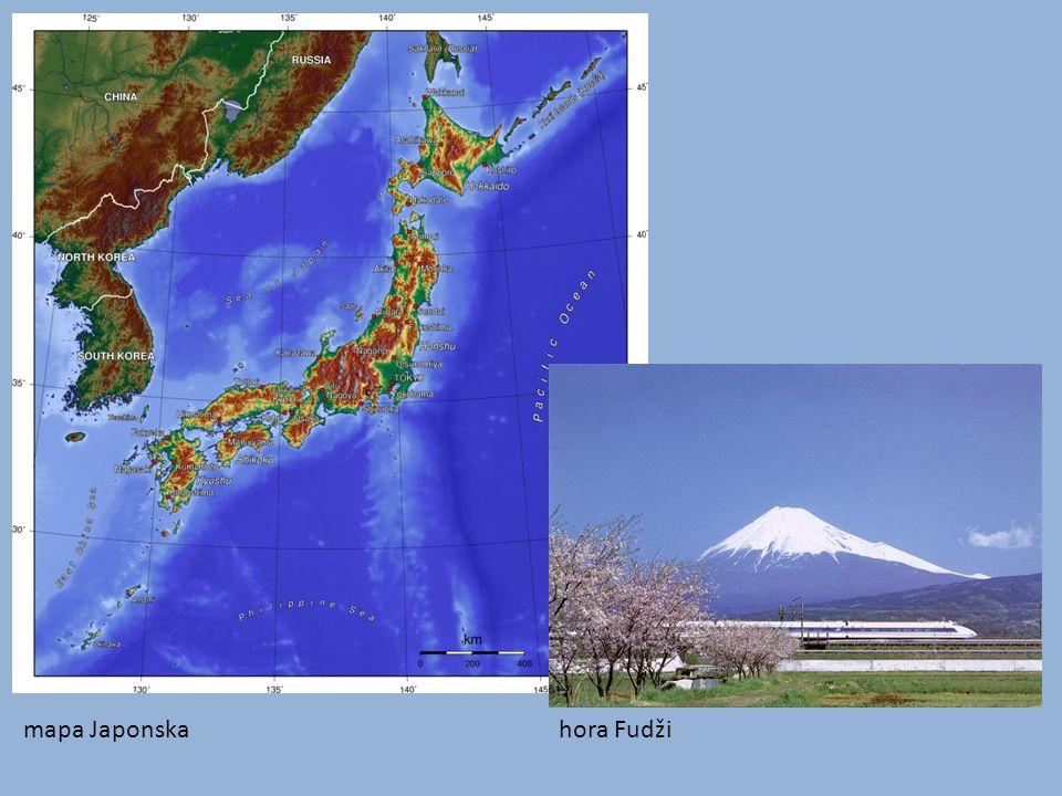mapa Japonska hora Fudži