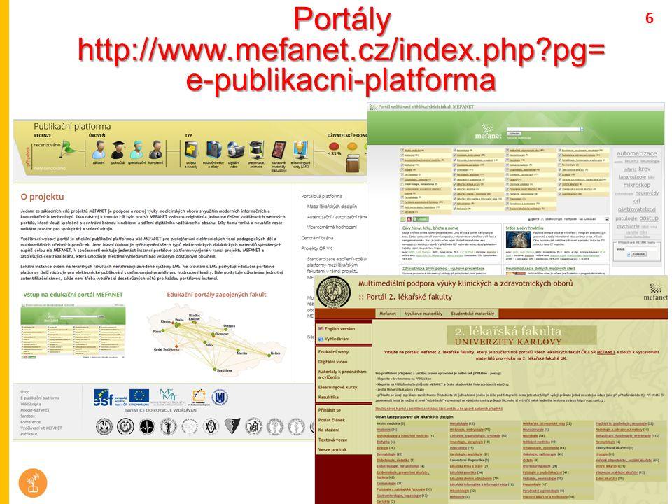 Portály http://www.mefanet.cz/index.php?pg= e-publikacni-platforma 6