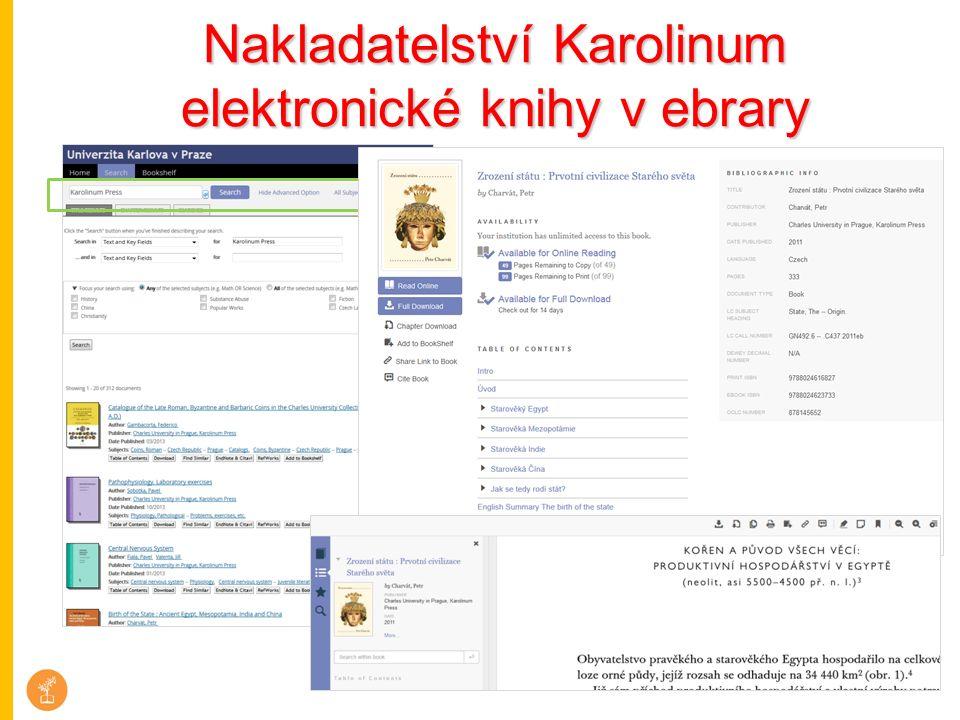 Nakladatelství Karolinum elektronické knihy v ebrary